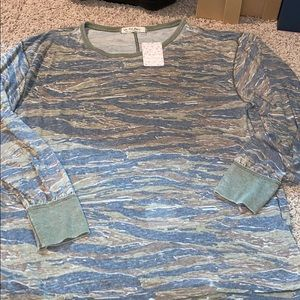 New with Tags Free People Camouflage Shirt